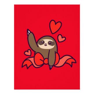 Ribbon Heart Sloth Letterhead