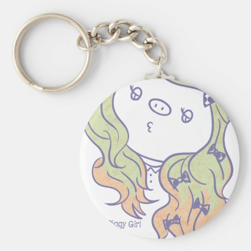 Ribbon-Piggy Girl- Key Chains