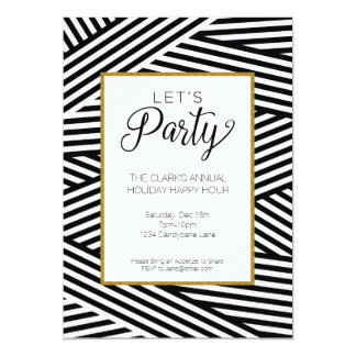 Ribbon Striped Party Invitation