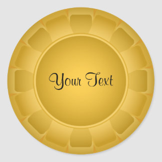 Ribbon Yellow Blank to Customize Classic Round Sticker