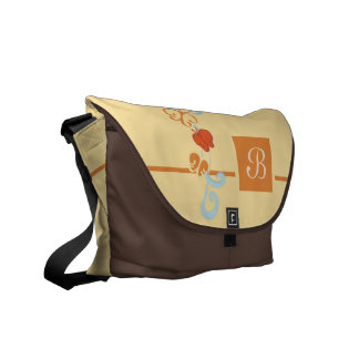 Ribbons and Butterfiles Courier Bag