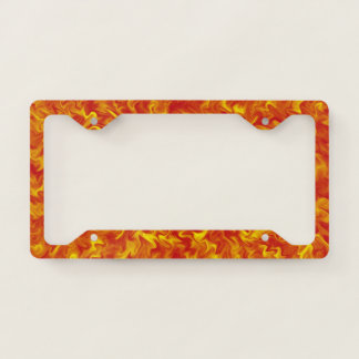 Ribbons of Fire License Plate Frame
