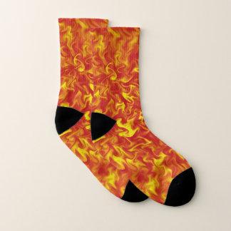 Ribbons of Fire Socks
