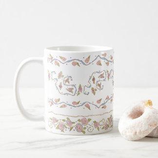 Ribbons & Roses White Mug