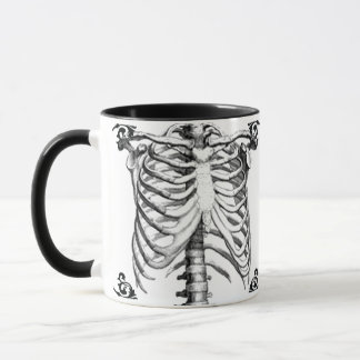 Ribcage Skeleton Gothic coffee mug