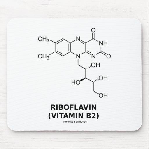 Riboflavin (Vitamin B2) Chemical Molecule Mouse Pad