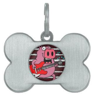 ribs rock pig pet tags
