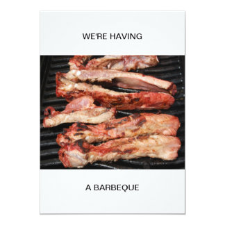 Ribs We are having a Barbeque Card