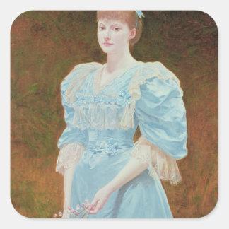 Rica - his daughter, 1894 square sticker