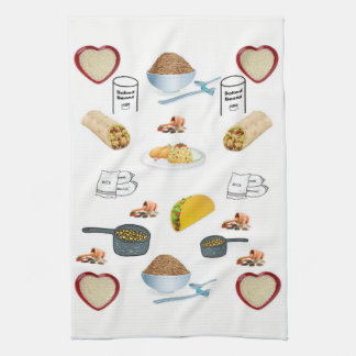 Rice and Beans kitchen hand towel