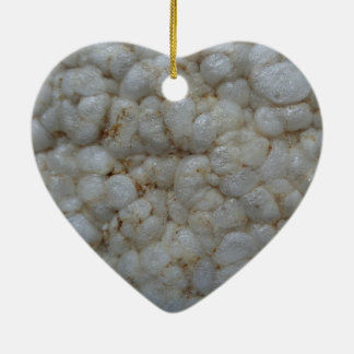 Rice Cake ,  Healthy Food, White Snack Ceramic Ornament