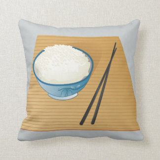 Rice & chopsticks Pillow