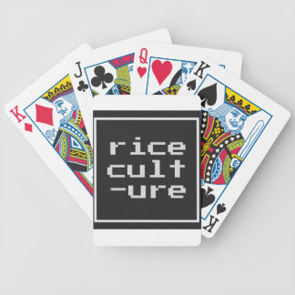 Rice Culture with frame Bicycle Playing Cards