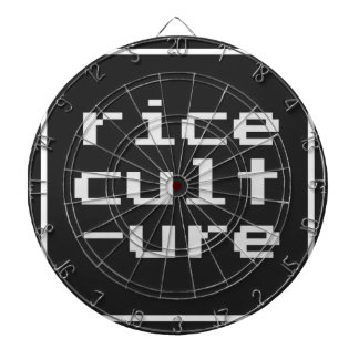 Rice Culture with frame Dartboard