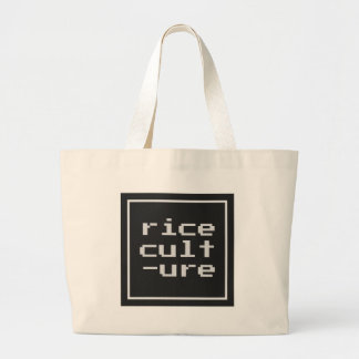 Rice Culture with frame Large Tote Bag