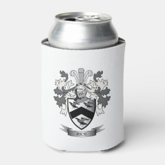 Rice Family Crest Coat of Arms Can Cooler