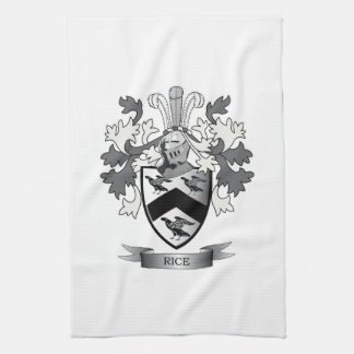Rice Family Crest Coat of Arms Kitchen Towel