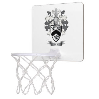 Rice Family Crest Coat of Arms Mini Basketball Hoop