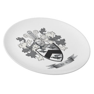 Rice Family Crest Coat of Arms Plate