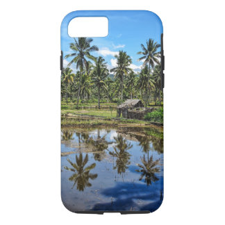 Rice Field Landscape Reflection iPhone 7 Case