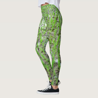 Rice Field Landscape Rows Upon Rows Leggings