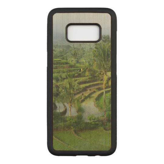 Rice fields and palm trees in the island of Bali Carved Samsung Galaxy S8 Case