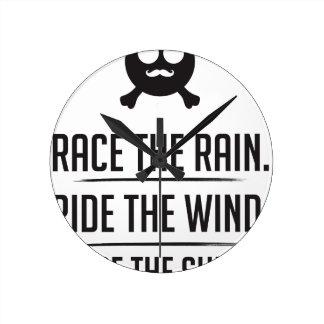 Rice in The Rain Round Clock
