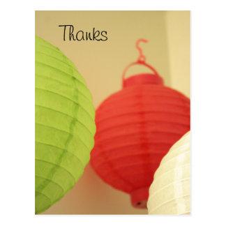Rice Paper Lanterns postcard