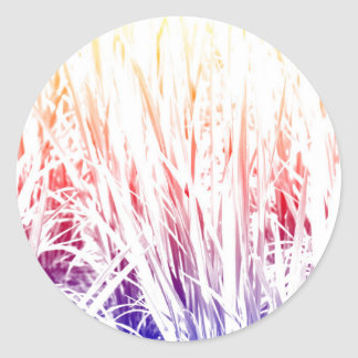 Rice plant classic round sticker