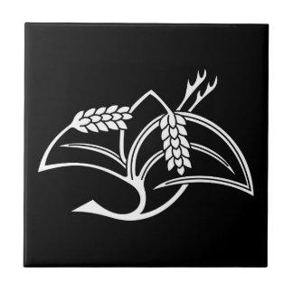 Rice plant crane tile