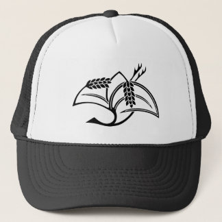 Rice plant crane trucker hat