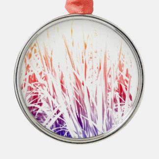 Rice plant metal ornament