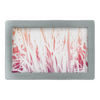 Rice plant rectangular belt buckle