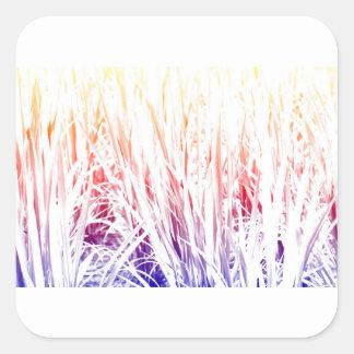 Rice plant square sticker