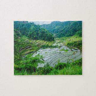 Rice terrace landscape, Philippines Jigsaw Puzzle
