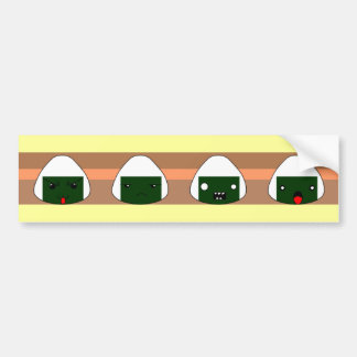 riceball  line bumper sticker