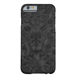 Rich Black Brocade design Barely There iPhone 6 Case