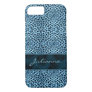Rich Blue Cheetah Print for your Wild Side iPhone 7 Case