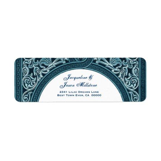 RICH BLUE Floral Arch Wedding Address