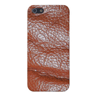 Rich Brown Leather-look Texture iPhone Speck Case