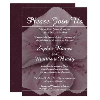 Rich Burgundy Pink Floral Card