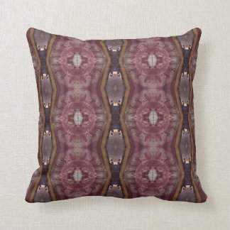 Rich Burgundy Rose Tan Warm Toned Pattern Throw Pillow
