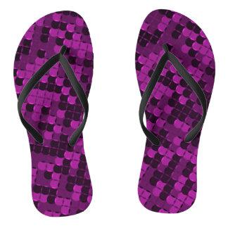 Rich crimson tiles flip flops