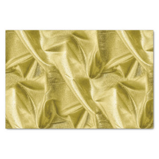 Rich Crumpled Metallic gold Faux Lame' Texture Tissue Paper
