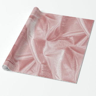 Rich Crumpled Metallic Pink Faux Lame' Texture