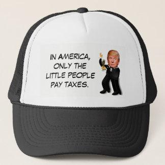 "Rich Donald Trump in Tux ""Little People Taxes"" Trucker Hat"