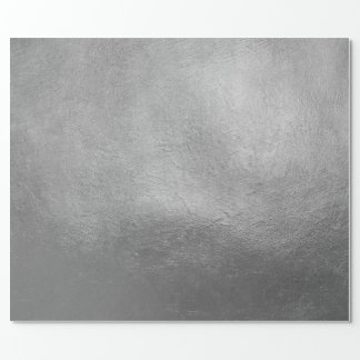 Rich Elegant Luxurious Christmas Silver Faux Foil Wrapping Paper