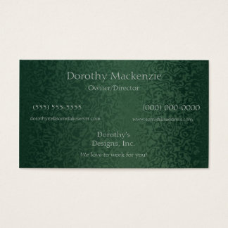 Rich Emerald Green Business Card