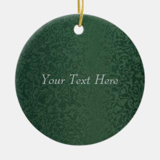 Rich Emerald Green Ceramic Ornament