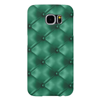 Rich Emerald Green Leather Bespoke Statement Color Samsung Galaxy S6 Cases